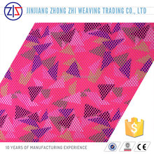 Hot Selling Colorful Triangle Printed 3D Spacer Mesh Fabric