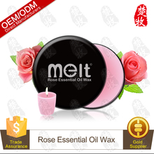 Handmade rose essential oil body massage candle soy wax for spa and decoration OEM supply
