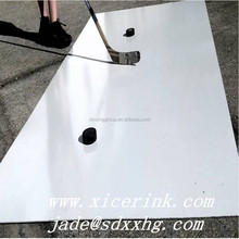Hot sales HDPE Plastic white hockey practice slide shooting pad boards