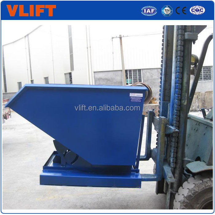 300L Forklift Attachment Self Dumping Hoppers