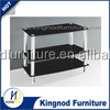 italian tv cabinet 2015 cheap modern Best price tempered glass stainless steel leg TV stand for living room furniture