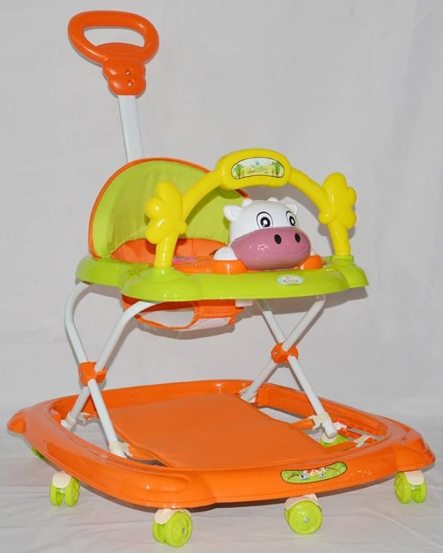 2016 china new design cheap baby walker,old fashion iron ride on baby walker manufacture for kids babies with push bar