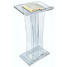 simple acrylic school podium/ church lectern