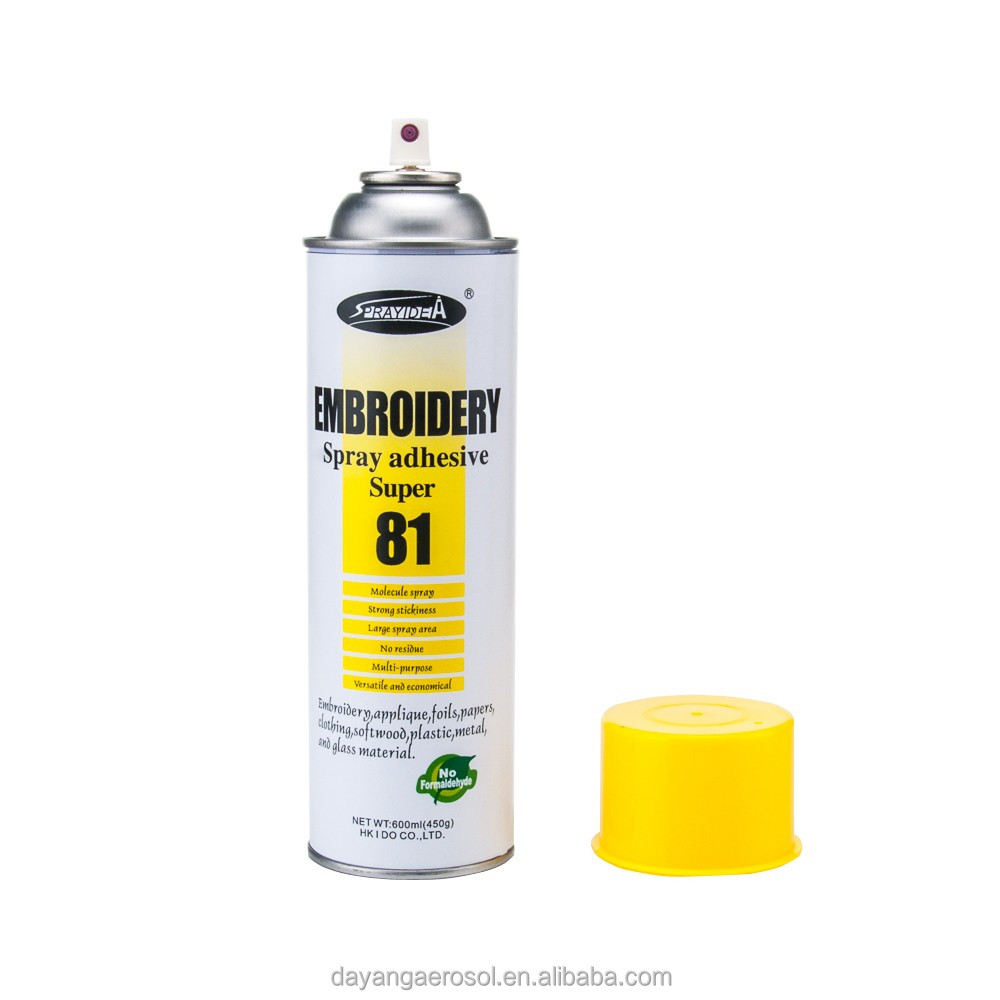 Yellowing Resistance Embroidery Spray Adhesive For Clothing