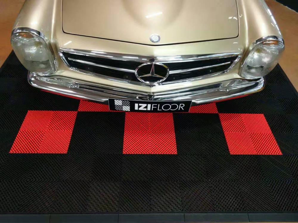 Plancher du garage de verrouillage pp carreaux de sol en - Revetement de plancher de garage en pvc ...