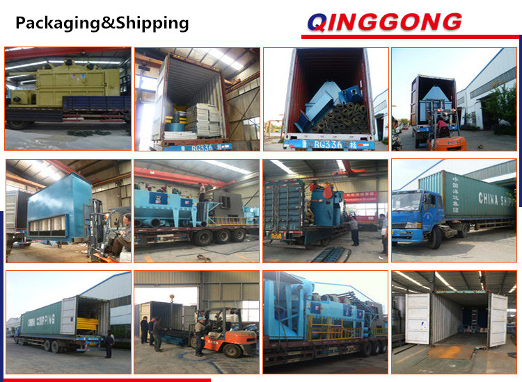 Qinggong Series H Beam Roller Conveyor Through Type Shot Blasting Machine/Shot Blaster