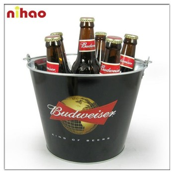 BUDWEISER galvanized ice bucket
