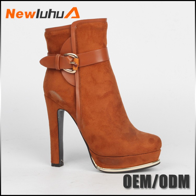 2017 new design custom leather citi trends women boots