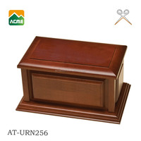 AT-URN256 good quality cremation wooden pet urns factory
