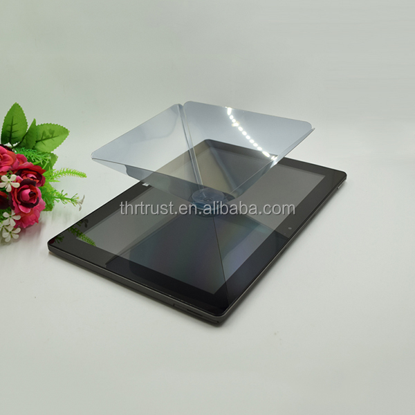 Free Sample 3D glasses Cheap hologram pyramid 3d hologram display 3d hologram Film with instruction for Tablet Ipad Smartphone