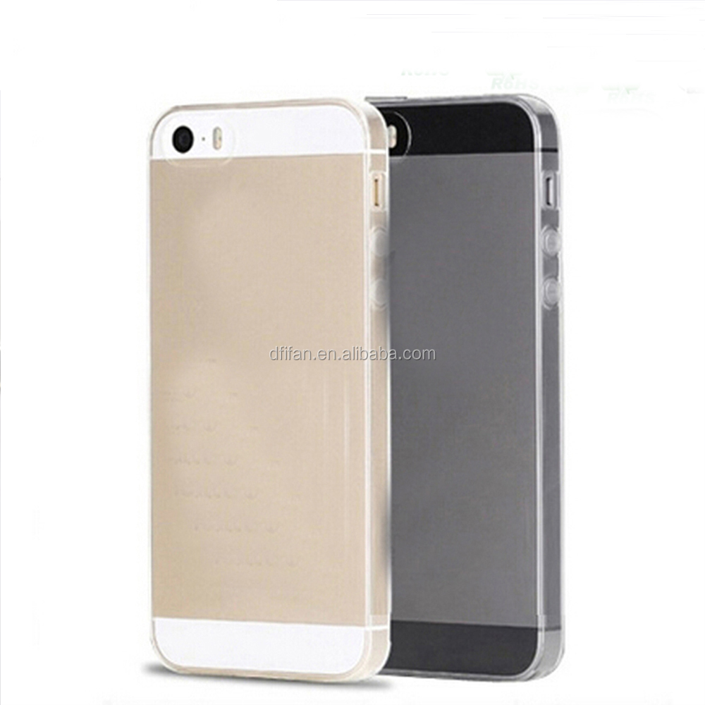 DFIFAN Mobile case for iphone 5 ultra thin tpu cover transparent clear case for iphone 5s