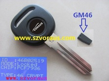 NEW TRANSPONDER KEY FOR GM CARS B111 / CIRCLE+ REPLACEMENT IGNITION KEY UNCUT