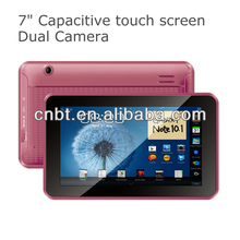 7 inch tablet pc digital tv with High resolution Dual Camera