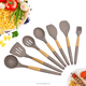 Wholesale 5pcs Silicone Kitchen Utensil With Wood Handle Modern Cooking Tools Set Kitchen Accessaries