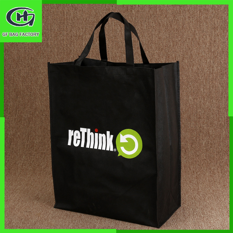 Resuable folding non-woven tote shopping bags