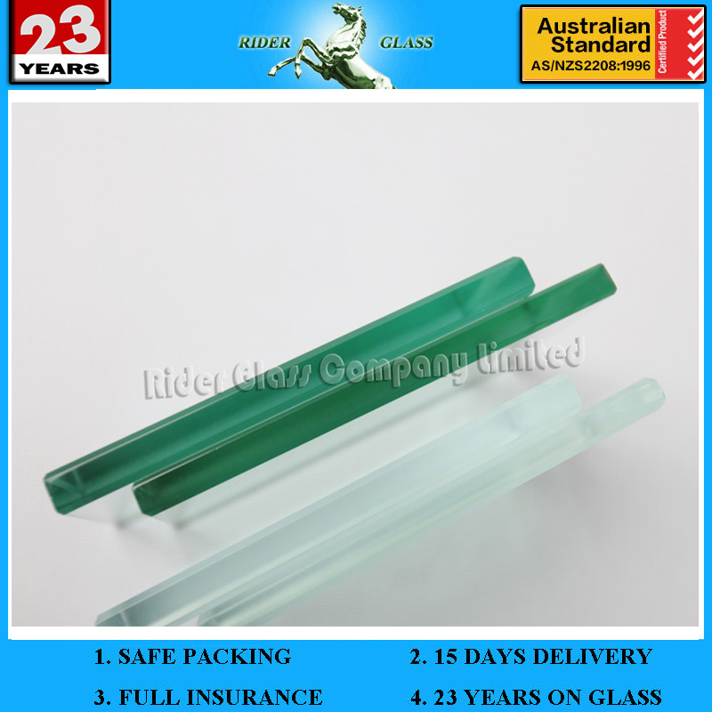 1.3-19mm 2 Thick Plate Glass with & AS/NZS2208:1996