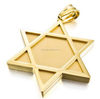 Men's Stainless Steel Pendant Necklace Gold Jewish Star Of David Gothic