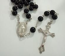 Factory direct sale Rosary religious jewelry pearl beads necklace wholesale pearl Cross Necklace