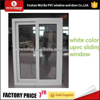 Latest design 3 track UPVC sliding window with price for house
