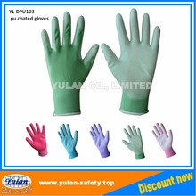wholesale antistatic nylon carbon fiber pu palm coating work glove CE EN388 420