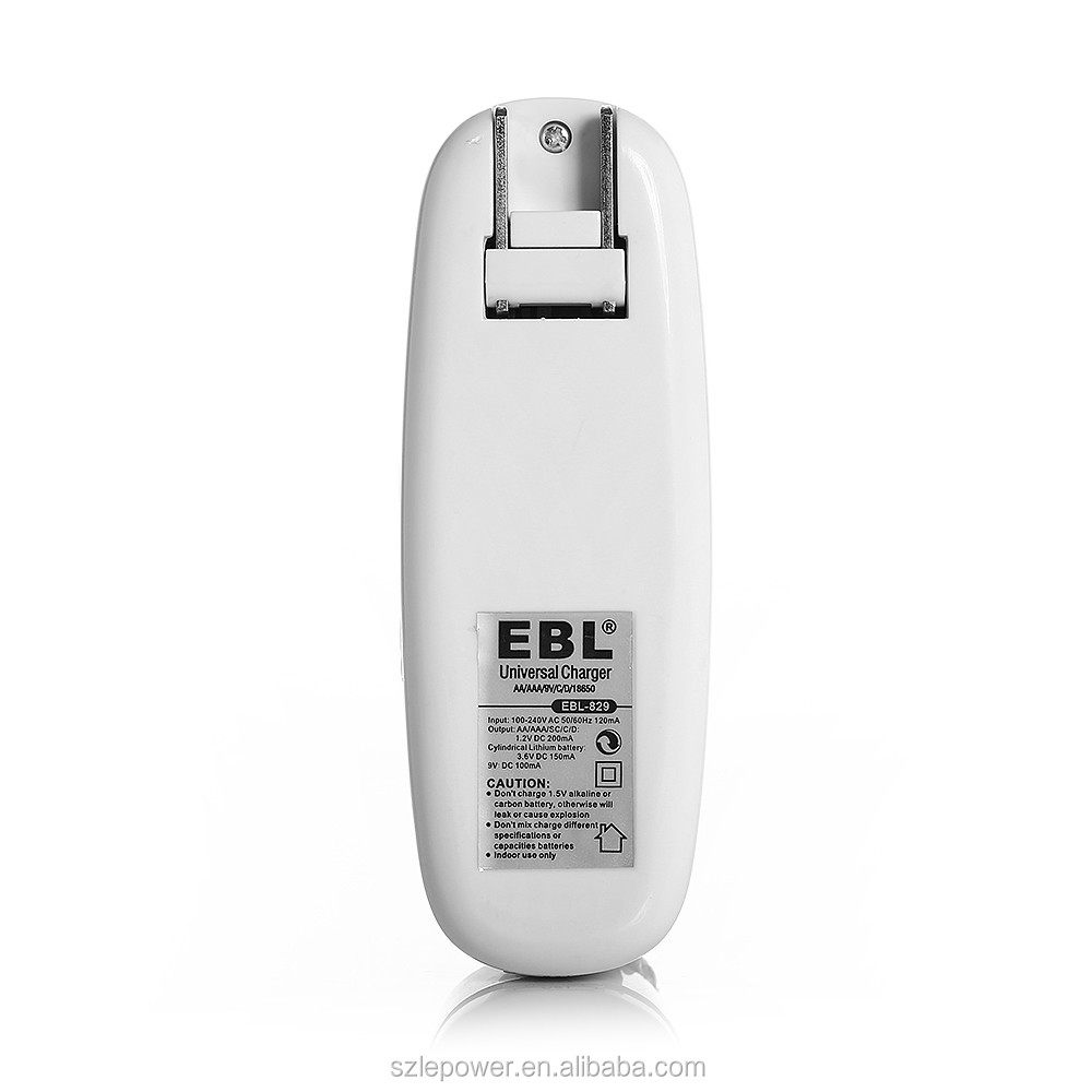 Alibaba Best Seller EBL AA AAA 9V C D Rechargeable Universal Battery Charger