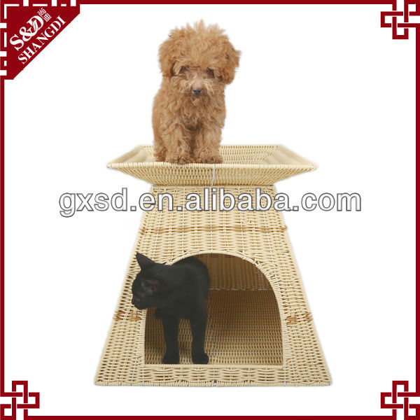 S&D waterproof PE rattan handmade durable cattery pet house