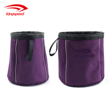 Foldable Travel Fabric Waterproof Pet Food and Water Bowl