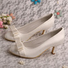 Ivory Wedding Shoes Bridal with Bow