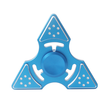Personalized Blue Triangle Aluminum Alloy Hand Spinner for Anxiety Relief