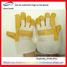 yellow furniture working gloves/leather working gloves