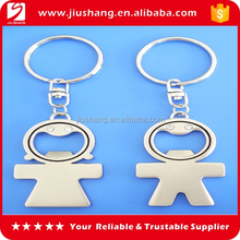 Promotional gift metal bottle opener with keychain