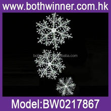 QB090 laser cut hanging wood snowflake decorations