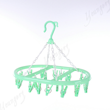 Hot selling plastic clothes hanger with pegs of hanger for underwear