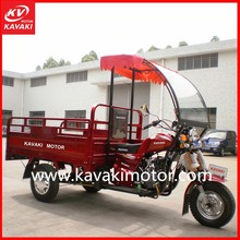 Chinese Gasoline operated motorized motor tricycle with front windshield for adults