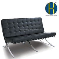 Home Furniture Leather 3 Seats Barcelona Lounge Chair