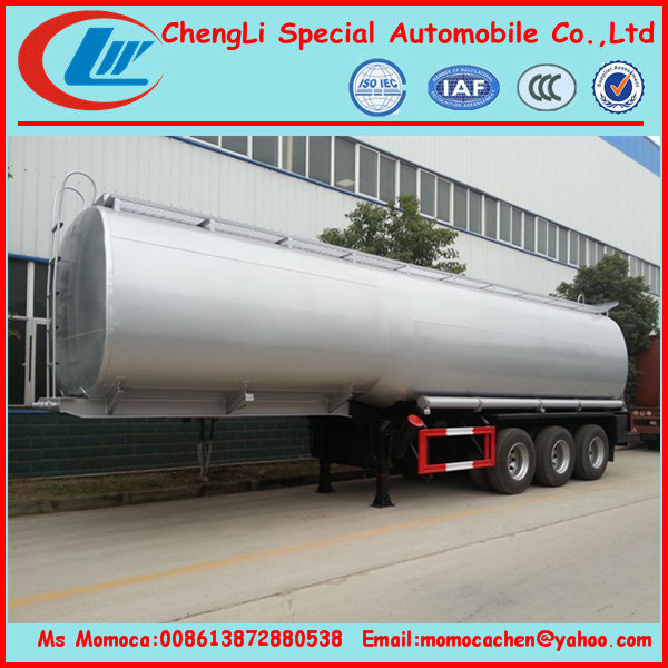 Mobile fuel tank trailers insulation fuel tank trailer stainless steel tank 50000L