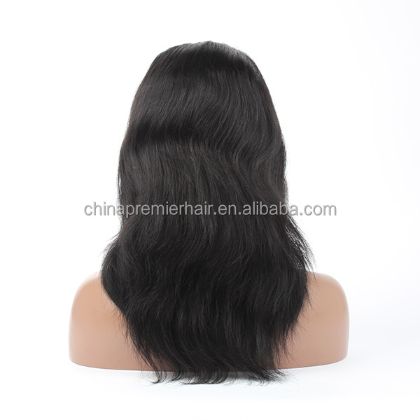 100% High End Indian Remy Human Hair with Natural Straight/Color Glueless Cap Full Lace Wig