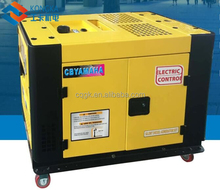 yellow digital electric gasoline generator 6000w lower noise lower oil cost kwh per litre