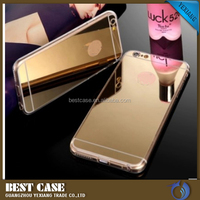 Luxury ultra-thin mirror tpu cover for iphone 4 phone case