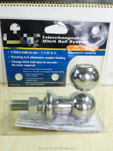 Truck Towing Parts Steel 50mm Tow Trailer Hitch Ball/2 hitch balls in one