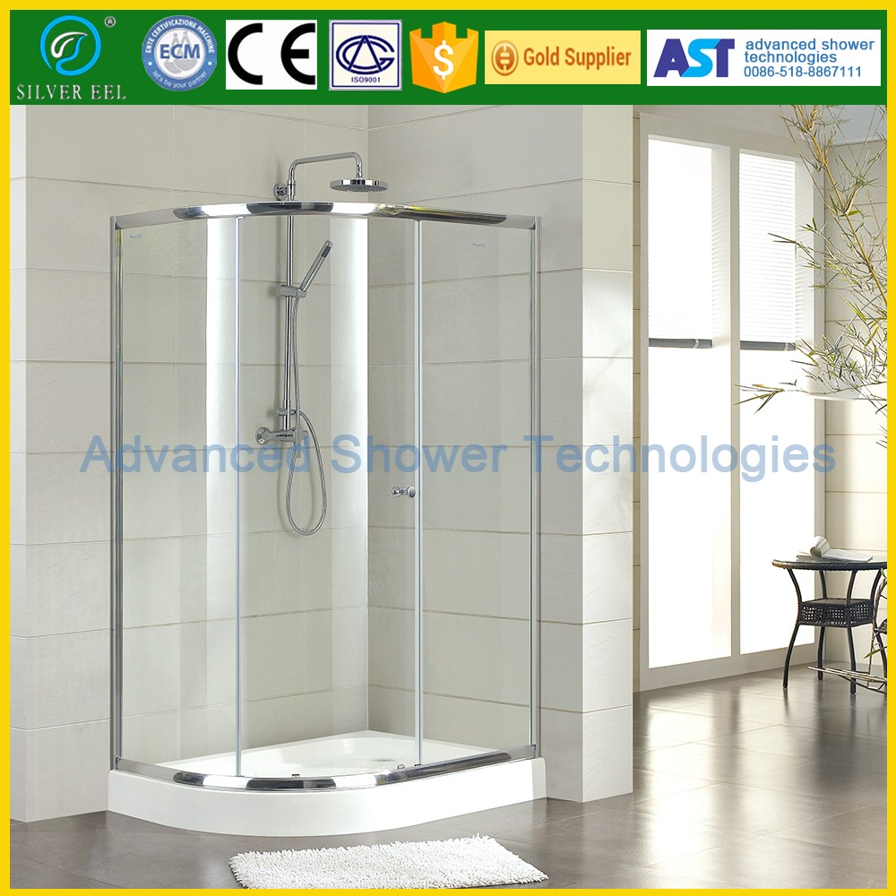 beach High quality bathroom tempered glass sliding door shower screen coner shower cabin