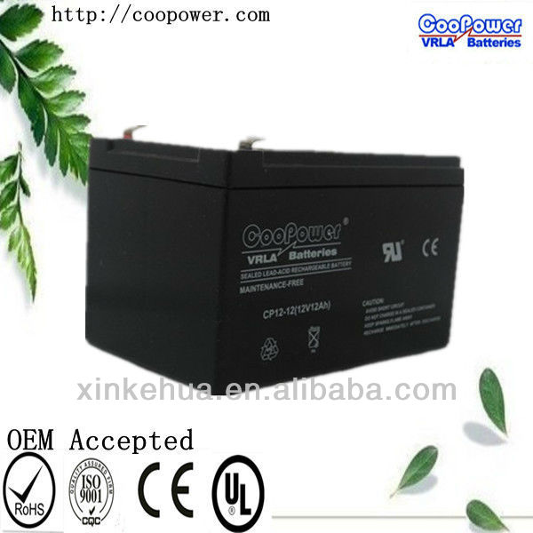 Lead acid/AGM / VRLA / SLA / SMF Battery 12v 12ah with CE and UL certificates