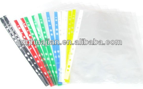 Dongguan factory direct selling 11 hole good quality screen protector sheet 4 color pp waterproof sheet protector