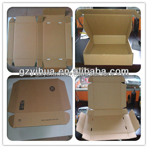 Single wall brown carton box for garment