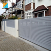Aluminum decorative garden slats prefab fence panels
