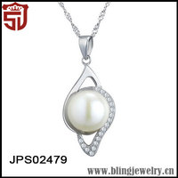 925 Sterling Silver Pearl Necklace Costume Jewelry