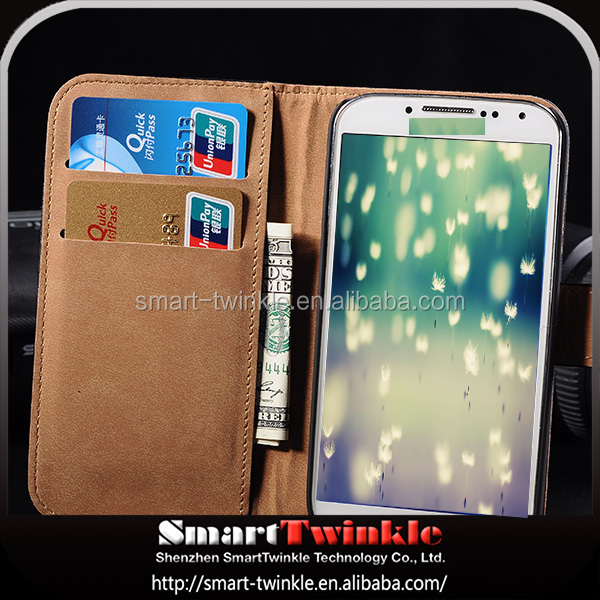Hard Crystal Clear transparent sublimation leather case for samsung galaxy s4