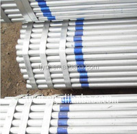 BS1387 hot dipped galvanized tube / galvanized steel pipe