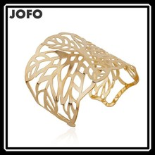 2015 Jofo Brand Hollow Plain Metal 14K Gold Plated Hiphop Bangles From Yiwu Market