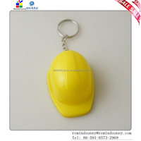 Mini Motorcycle Safety Helmet Yellow Cap Keychain with Cap Bottle Opener Function